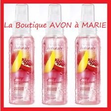 3 X GRENADE & MANGUE Spray Déodorant Vapo Parfumé NATURALS AVON Corps & Cheveux