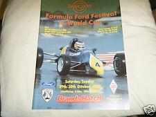Programa de 1988 Festival de Fórmula Ford Michael Schumacher Andrew Guye Johnson FF