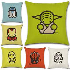 45cm Cartoon Star Wars Cotton Linen Pillow Case Sofa Throw Cushion Cover Decor