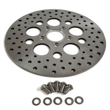 "11.5"" Rear Harley Brake Rotor Satin Polished SS Disc For Harley Touring Chopper"