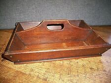 Antique Early 19th Century Georgian Oak Cutlery Box (Handle Two Compartment)