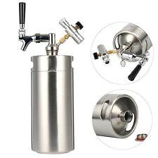 Mini CO2 Regulator 128 Ounce Keg System Kegerator Kit Homebrew Beer Dispensor