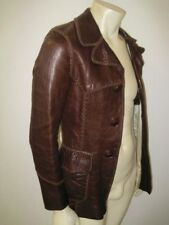 Vintage Men's NORTH BEACH LEATHER Whipstitch Leather Jacket Size SMALL