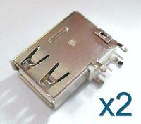 2x Connecteur à souder USB type A femelle - Female USB solder vertical connector