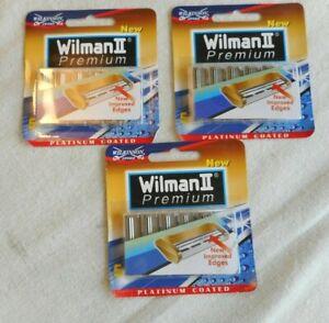 Wilkinson Wilman II Premium Razor Blades Platinum Coated NOS 3 Packages