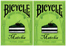 TWO Decks of Bicycle Matcha Playing Cards by Bocopo - USPCC - Limited Edition