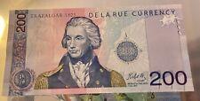 More details for tt 2005 great britain 200 units de la rue currency test note mint