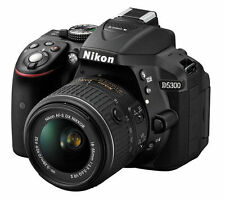 Nikon D D5300 24.2MP Fotocamera Reflex Digitale-Nero (Kit Con AF-S DX VR II 18-55 mm le