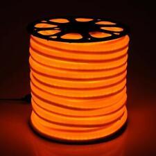 Orange LED Neon Light Rope Outdoor Lighting Strip Flex Tube Party Decor 150FT