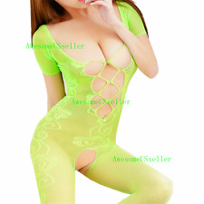 Women's Adult Babydoll Fishnet Body Stockings Sleepwear Bodysuit New Lingerie