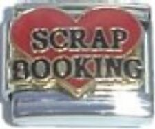 Italian Charm Love Scrap Booking Red Heart 9mm Fits Standard Bracelet