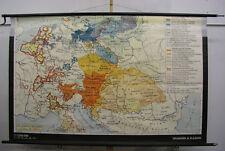 Vieux murs CARTE AUTRICHE vs Preussen 1795 Vintage Wall Map 194x123cm 1966