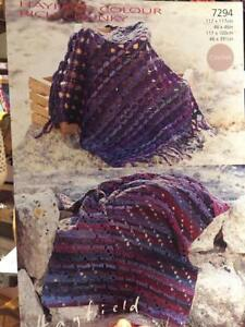 Hayfield Colour Rich Chunky 7294, Blankets Afghan Throw Crochet Patterns