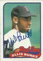 1989 TOPPS #785 ELLIS BURKS SIGNED AUTOGRAPH BASEBALL CARD BOSTON RED SOX