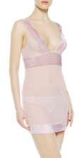 La Perla Tulle Nervures Slip with G-string Liliac 2/S NWT $440