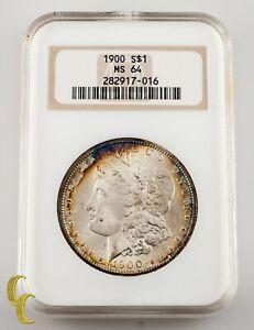 1900 $1 Silver Morgan Dollar NGC Graded MS 64