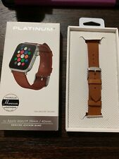 Platinum Leather Watch Strap for Apple Watch 38mm/40mm BROWN PT-AWB4OHLC USED!