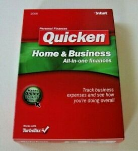 Intuit Quicken Home & Business 2008 CD ROM w/ Updates, No subscription required