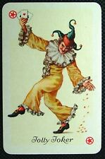 1 x Jolly Joker playing card single swap Geometrical patterns Green AD114