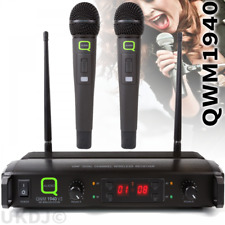 Q-Audio QWM1940 Twin Multi Channel UHF Radio Microphone - Dual Wireless Mics