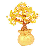 7inch Feng Shui Crystal Money Wealth Luck Tree for Office Home Desk Decor #4