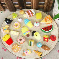 10Pcs SOFT Fast food&Rilakkuma Acylic Charms Squeeze Slow Rising Toy Collection
