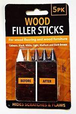 Lot de 5 meubles de réparation cire Filler Bâtons Bois Stratifié table Scratch Réparations