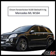 Chrom Fensterleisten aus Edelstahl V2A für Mercedes ML W164