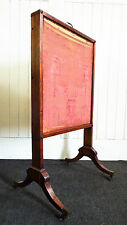 Antique Victorian mahoagany extending draught fire screen / firescreen