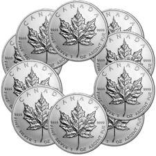 10 x 1 oz Silber Maple Leaf Verschiedene Jahrgänge - Kanada Silbermünze 999,9