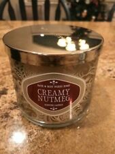 Bath And Body Works Creamy Nutmeg 14.5oz 3wick Candle