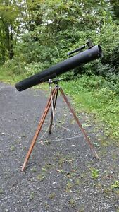 Vintage  Telescope With  Wood Tripod Stand