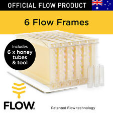 FLOW FRAMES 6 pcs Honey Tubes w Tool for Flow Hive Super Classic Beehive