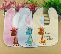 10pcs/set Cartoon bib Bibs Newborn Girl Kids Baby Boy Saliva Waterproof Feeding