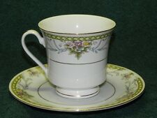 Truly Tasteful Colorful Flowers Fine China Cup & Saucer_2935