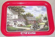 "COCA COLA COKE METAL TRAY ""REA & COUNTY CHURCH"" W/ tray magnet"