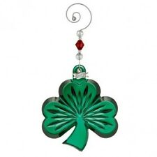 Waterford Crystal 2013 Annual Green Shamrock ornament with enhancer New #160070