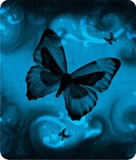 **MOUSE PAD - THICK & DURABLE - BUTTERFLY 9 NICE BLUE  - PERSONALIZED FREE!**