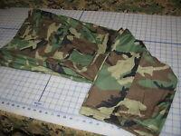 military genuine cold weather pants w/liners MEDIUM SHORT USGI BDU woodland