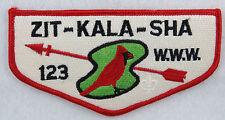 OA Lodge 123 Zit-Kala-Sha S22 Flap Hidden FDL below arrow; CD; CB;  [MS370]