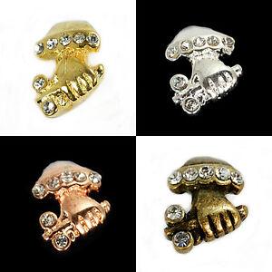 Silver,Gold,Bronze,WGP etc Crystal Pendant Pinch Bails 10x14mm 4pcs