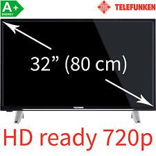 Telefunken 32 Zoll HD Fernseher LED TV Triple Tuner 80cm HDready 2x HDMI EEK: A+