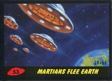 Mars Attacks The Revenge Black [55] Base Card #53 Martians Flee Earth