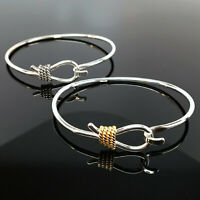 Sterling Silver ROPE BANGLE Cowgirl Jewelry RODEO Gold Vermeil BRACELET Western