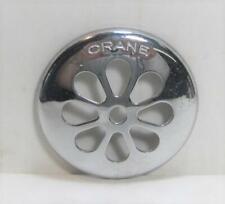 """NOS Vintage CRANE Tub Shower Drain Strainer Brass & Chrome 3"""" Round"""