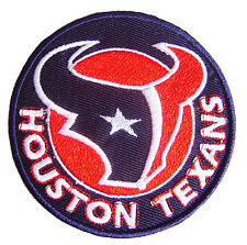 NFL Houston Texans Logo embroidered sew iron on patch. 2.8 inch (i2)