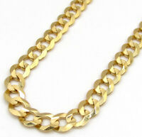 14k Yellow Gold Solid Mens Womens Cuban Link Chain Necklace 4.5MM 16 - 30 Inch