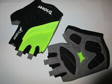 Trideer Cycling Biking Bike MTB Half Finger Gloves Black Green Medium Gel Palm