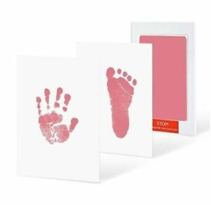Baby Footprints Safe Non-toxic Handprint No Touch Inkless Pads Kits 0-6 months