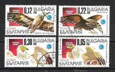 Oiseaux Bulgarie (75) série complète de 4 timbres oblitérés